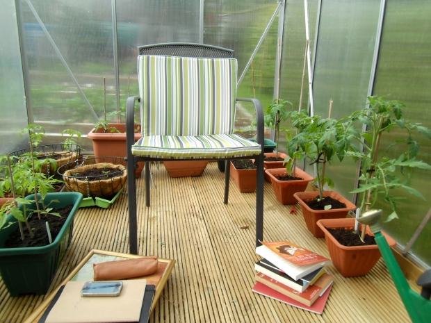 Greenhouse writing room